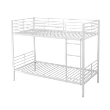 WHITE OR SILVER METAL 3′ SINGLE BUNK BED