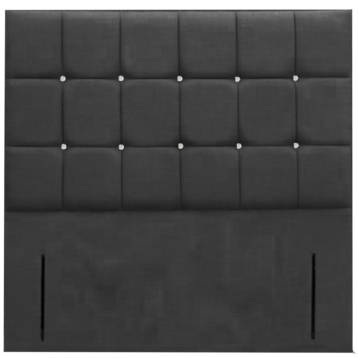 CHENILLE FLOOR STAND CUBED HEADBOARD DIAMOND ON