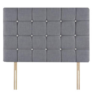 CHENILLE 32″ CUBES HEADBOARD DIAMOND ON