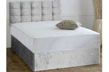 CRUSHED VELVET POCKET MEMORY DIVAN SET