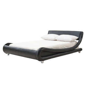 GALAXY UPHOLSTERED MODERN BLACK BED