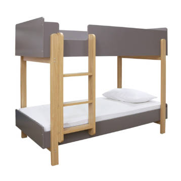 HERO WOODEN GREY OR WHITE NAVY BUNK BED