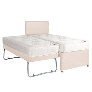 3 IN 1 PULLOUT LEATHER BED WITH MATTRESSES