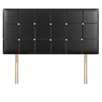 LEATHER CUBES HEADBOARD WITH DIAMOND ON