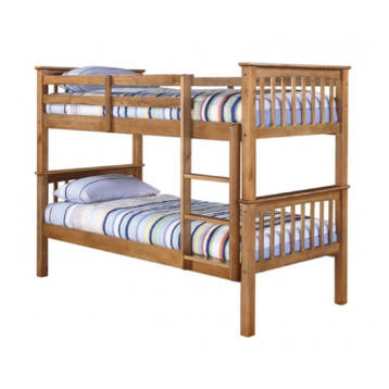 ANTIQUE WAX PINE SOLID 3′ SINGLE BUNK BED