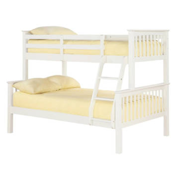 TRIPLE SLEEPER HIGH QUALITY OFF WHITE BUNK BED