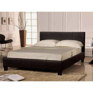 FAUX LEATHER ADDITIONAL STORAGE BED