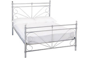SILVER CRYSTAL METAL BED
