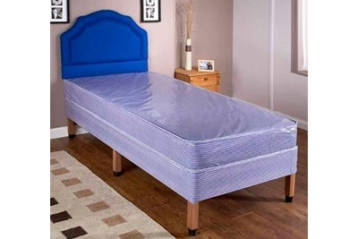 WATER RESISTANT DIVAN BED BASE WITH LEGS AND MATTRESS