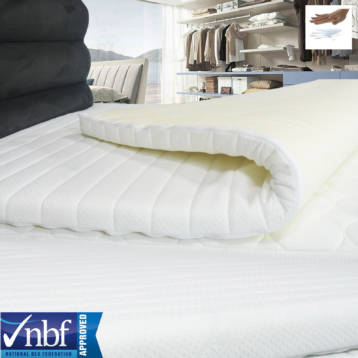 MEMORY FOAM MATTRESS TOPPERS + QUILTED ELASTICATED COVERS