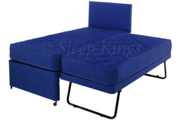 3FT SINGLE 3 IN 1 FABRIC NAVY GUEST BED SET