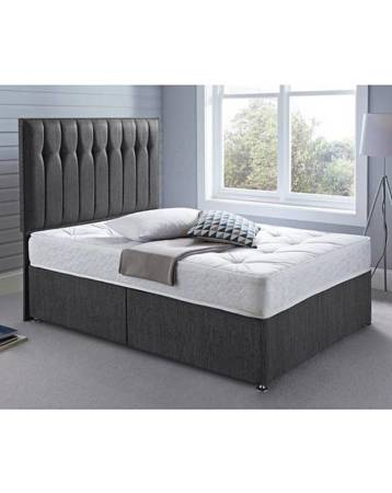 UNIVERSAL CHENILLE DIVAN BASE BED LIFT UP STORAGE