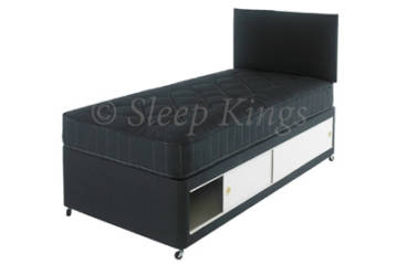 2FT6 OR 3FT KIDS SLIDE STORAGE DIVAN SET IN BLACK