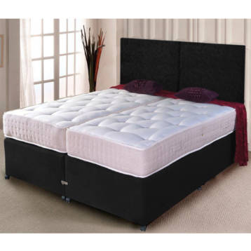 ZIP AND LINK DIVAN SET ORTHO MEMORY FOAM MATTRESS WITH HEADBOARD