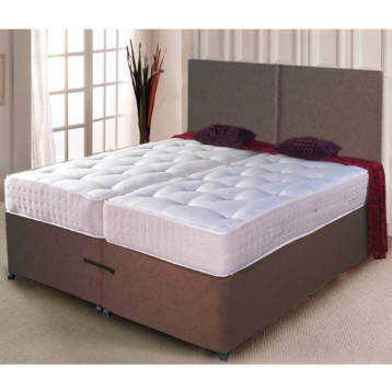 ZIP AND LINK DIVAN BED POCKET SPRUNG MATTRESSES + HEADBOARD