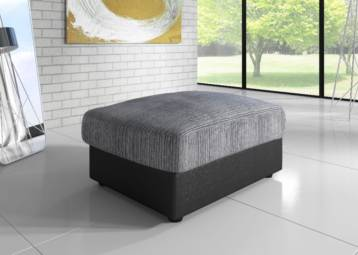 DINO JUMBO SOFA FOOTSTOOL BLACK/GREY