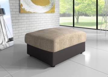 DINO JUMBO SOFA FOOTSTOOL BROWN/BEIGE