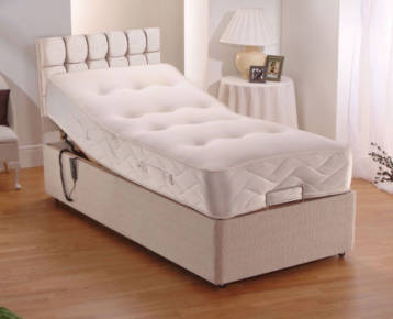 POCKET ADJUSTABLE BED WITH CUBED TALL HEADBOARD