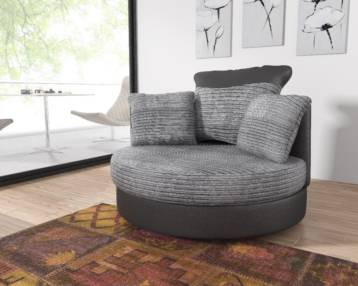 LUSH SWIVEL CHAIR BLACK/GREY
