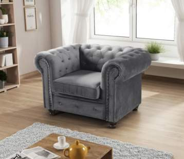 CHESTERFIELD HABLO ARMCHAIR GREY
