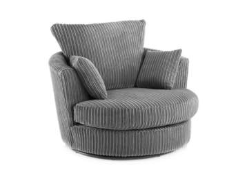 AYMI GREY SWIVEL CHAIR