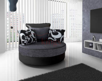 SHANNON SWIVEL CHAIR BLACK/GREY