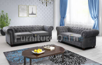 CHESTERFIELD HABLO 3+2 SET GREY