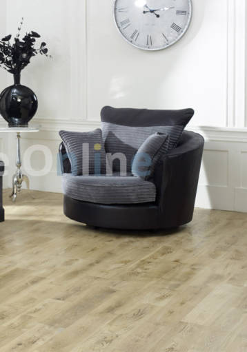 DINO JUMBO SWIVEL CHAIR BLACK/GREY