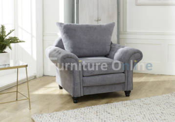 NICOLE CHESTERFIELD ARMCHAIR GREY