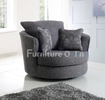 HUGO SWIVEL CHAIR GREY