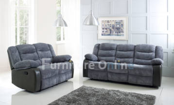 Rio Recliner 2+1+1 Seater Grey