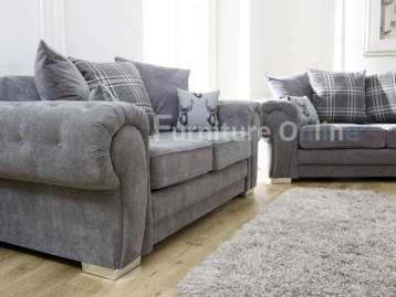 Verona Chesterfield 2 Seater Grey