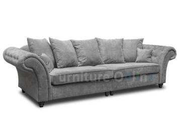 WINDSOR 4+2 SEATER GREY AND FOOTSTOOL