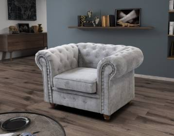 CHESTERFIELD HABLO ARMCHAIR SILVER