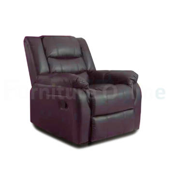 Roma Recliner Leather Armchair Brown
