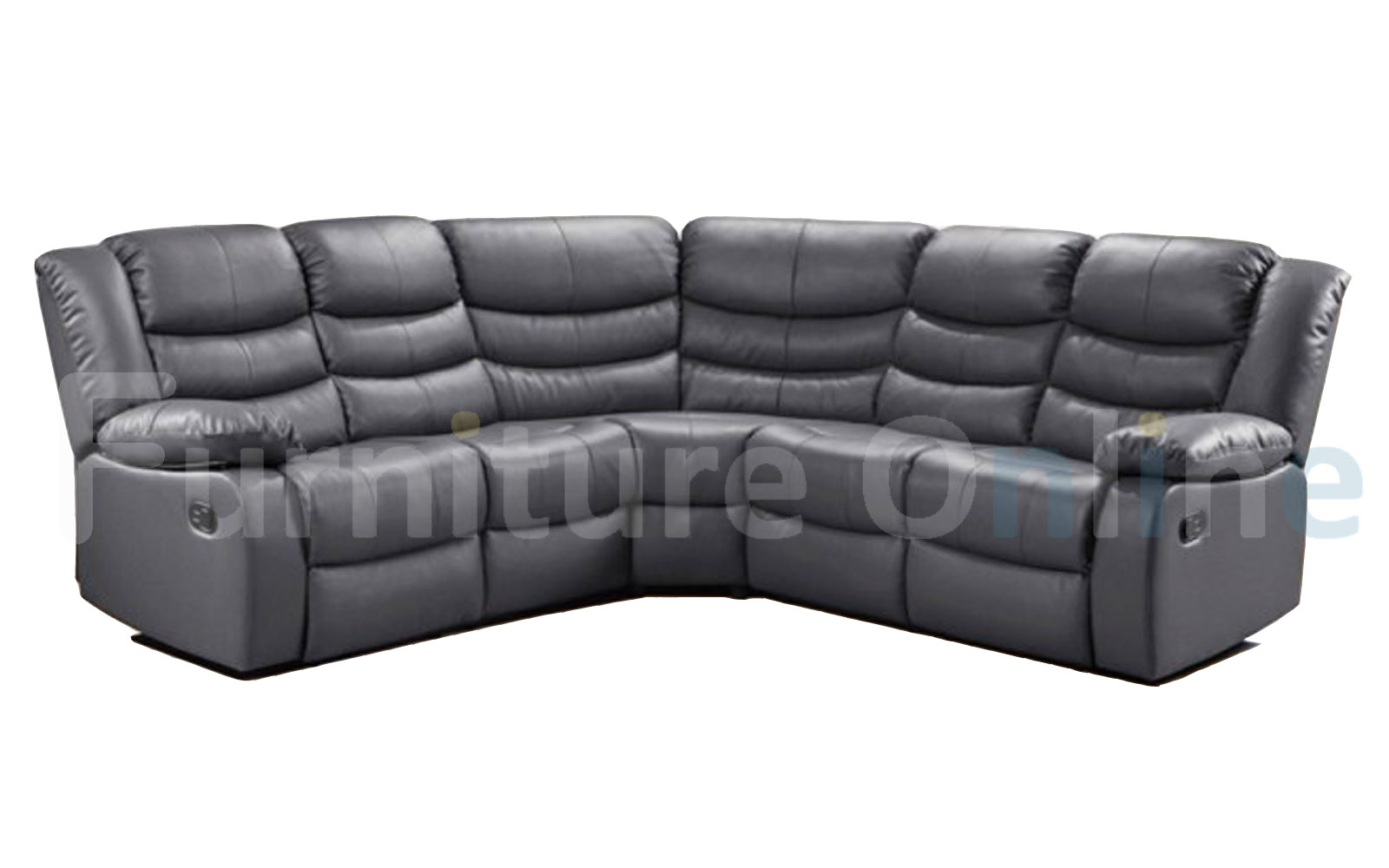Picture of: Roma Recliner Double Corner Grey Furniture Direct Online