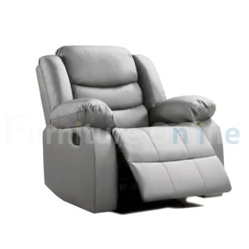 Roma Recliner Leather Armchair Grey