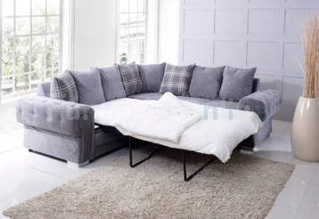 VERONA DOUBLE CORNER SOFA BED GREY