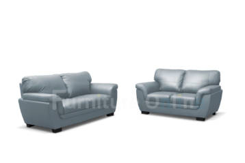 Candy Faux Leather Sofa Set 3+2 Grey