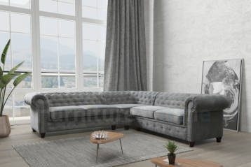 HABLO CHESTERFIELD DOUBLE CORNER GREY