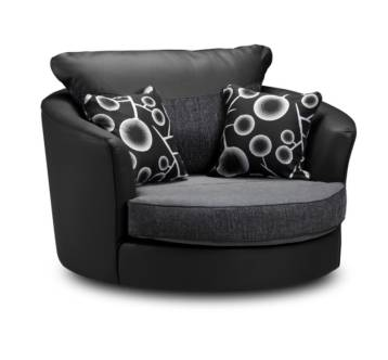 BAILEY SWIVEL CHAIR BLACK/GREY