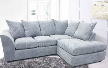 CHANEL 4 SEATER RIGHT HAND CORNER FABRIC SOFA