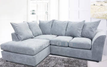 CHANEL 4 SEATER LEFT HAND CORNER FABRIC SOFA