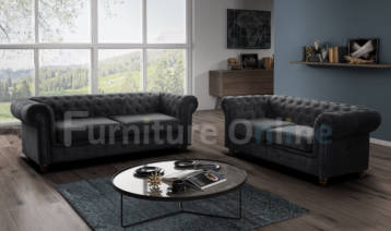 CHESTERFIELD HABLO 3+2 SET CHARCOAL GREY