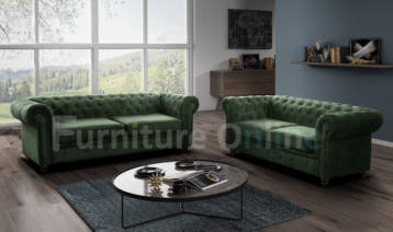 CHESTERFIELD HABLO 3+2 SET GREEN