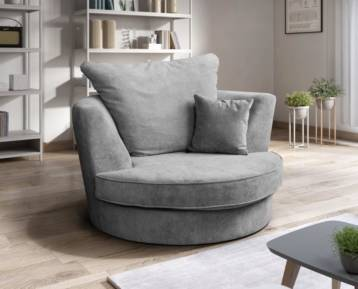 NICOLE SWIVEL CHAIR GREY