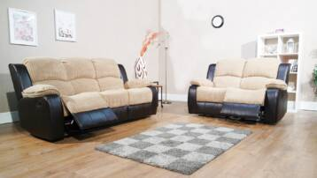 JUMBO CONCORDE 3+2 RECLINER SET  BROWN/BEIGE