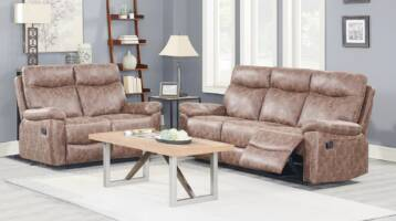 FLORENCE RECLINER BROWN LEATHER 3+2 SOFA SET
