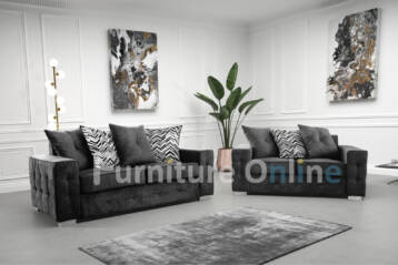LISBON 3+2 Seater Set CHARCOAL GREY