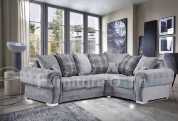 Verona 4 SEATER RIGHT Corner Grey